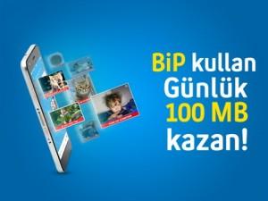 Turkcell Bip 100 MB Kampanyası bedava